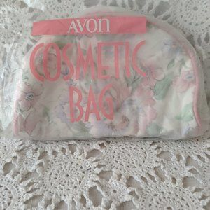 Avon Bags - Avon Pink Floral Cosmetic Bag NOS